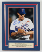 Nolan Ryan Signed Rangers 11x14 Custom Matted Photo Display (AIV COA & Ryan Hologram) at PristineAuction.com