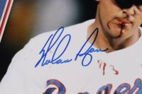 Nolan Ryan Signed Rangers 11x14 Custom Matted Photo Display (AIV COA & Ryan Hologram) at PristineAuction.com