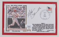 Mike Schmidt Signed Phillies 14x18 Custom Matted FDC Envelope Display (JSA COA) at PristineAuction.com