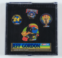 Jeff Gordon LE NASCAR Commemorative Set of (4) Pins With Case at PristineAuction.com