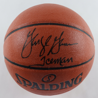 """George Gervin Signed NBA Game Ball Series Basketball Inscribed """"Iceman"""" (Schwartz Sports COA) at PristineAuction.com"""