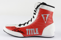 Julio Cesar Chavez Signed Title Boxing Shoe (PSA COA) at PristineAuction.com