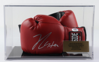 Pair of (2) Julio Cesar Chavez Signed Ringside Boxing Gloves with Display Case (PSA COA) at PristineAuction.com