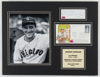 """Jocko Conlan Twice-Signed White Sox 14x18 Custom Matted Poscard & Cut Display Inscribed """"Best Wishes"""" (SOP Hologram) at PristineAuction.com"""