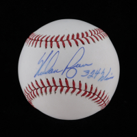 "Nolan Ryan Signed OML Baseball Inscribed ""324 Wins"" (PSA COA & Ryan Hologram) at PristineAuction.com"