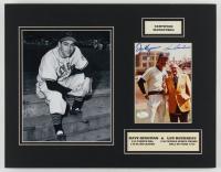 Lou Boudreau & Dave Kingman Signed Cubs 14x18 Custom Matted Photo Display (JSA COA) at PristineAuction.com