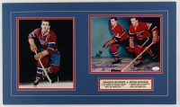 Maurice & Henri Richard Signed Canadiens 14x24 Custom Matted Photo Display (JSA COA) (See Description) at PristineAuction.com