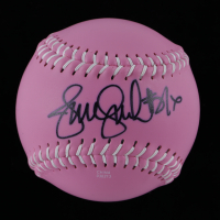 Jennie Finch Signed Breast Cancer Awareness Softball (Leaf COA) at PristineAuction.com
