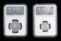 Smithsonian 1838 Founder's Coin Set with (2) Coins at PristineAuction.com