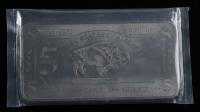 5 Troy Ounce .999 Fine Titanium Bullion Bar at PristineAuction.com