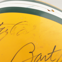 """Packers Greats Full-Size Throwback Suspension Helmet Signed by (5) with Bart Starr, Ray Nitschke, Willie Wood, Herb Adderley, Jim Taylor Inscribed """"HOF-1986"""" & """"HOF 89"""" (Beckett LOA) (See Description) at PristineAuction.com"""
