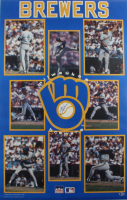 1990 Brewers 22x34 Poster Signed by (7) with Robin Yount, Greg Brock, Teddy Higuera, Dale Sveum, Rob Deer (Beckett LOA) at PristineAuction.com