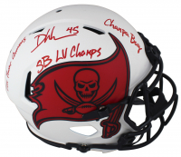 Devin White Signed Buccaneers Full-Size Authentic On-Field Lunar Eclipse Alternate Speed Helmet With Multiple Inscriptions (Beckett Hologram) at PristineAuction.com