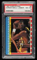 Kareem Abdul-Jabbar 1987-88 Fleer Stickers #8 (PSA 8) at PristineAuction.com