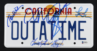"""Back to the Future"" California License Plate Signed By (4) With Michael J. Fox, Christopher Lloyd, Lea Thompson & Thomas Wilson (Beckett COA & JSA ALOA) at PristineAuction.com"