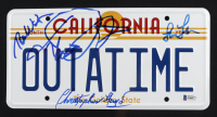 """Back to the Future"" California License Plate Signed By (4) With Michael J. Fox, Christopher Lloyd, Lea Thompson, & Thomas Wilson (Beckett COA & JSA ALOA) at PristineAuction.com"