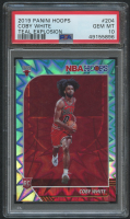 Coby White 2019-20 Hoops Teal Explosion #204 (PSA 10) at PristineAuction.com
