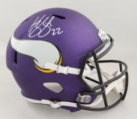Harrison Smith Signed Vikings Full-Size Matte Purple Speed Helmet (Beckett Hologram) (See Description) at PristineAuction.com