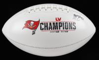 Mike Edwards Signed Buccaneers Super Bowl LV Logo Football (JSA COA) at PristineAuction.com