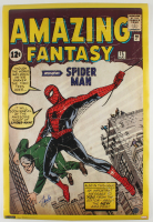 "Stan Lee Signed ""Amazing Fantasy"" 24x36 Poster (Lee Hologram) (See Description) at PristineAuction.com"