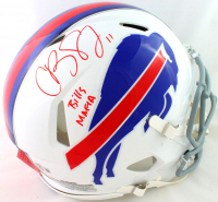 """Cole Beasley Signed Bills Full-Size Authentic On-Field Speed Helmet Inscribed """"Bills Mafia"""" (Beckett Hologram) at PristineAuction.com"""