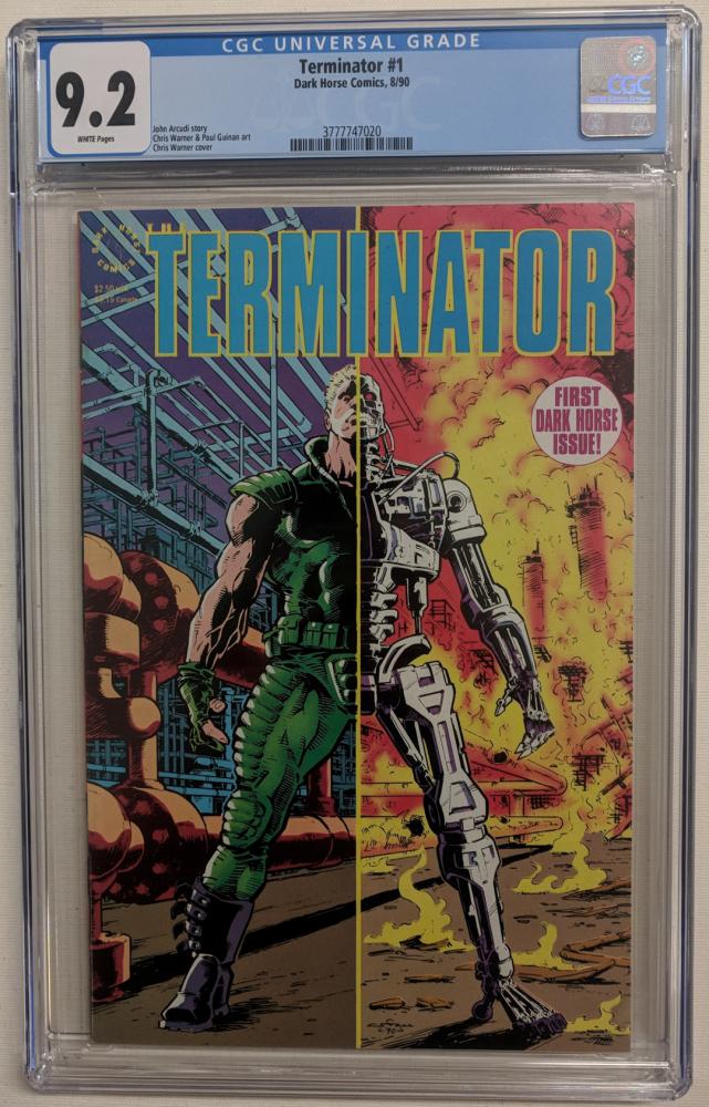 """1990 """"Terminator"""" Issue #1 Dark Horse Comic Book (CGC 9.2) at PristineAuction.com"""