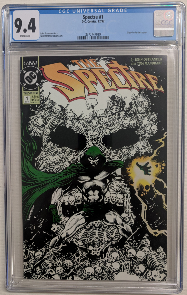 """1992 """"The Spectre"""" Issue #1 DC Comic Book (CGC 9.4) at PristineAuction.com"""