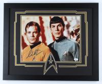"William Shatner Signed ""Star Trek"" 18x22 Custom Framed Photo Display (JSA COA) (See Description) at PristineAuction.com"