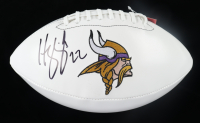 Harrison Smith Signed Vikings Logo Football (Beckett Hologram) at PristineAuction.com