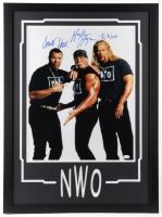 Hulk Hogan, Scott Hall & Kevin Nash Signed WWE 23x31 Custom Framed Photo Display (JSA COA) (See Description) at PristineAuction.com