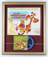 "Walt Disney's ""Winnie the Pooh & Tigger Too"" 17x20 Custom Framed Original 1974 Movie Lobby Poster Display with 8 mm Film (See Description) at PristineAuction.com"