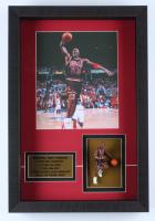 Michael Jordan Bulls 12.5x18.5x2 Custom Framed Shadowbox Display with 3-D Michael Jordan Statue (See Description) at PristineAuction.com