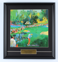 """Leroy Neiman """"The 16th At Augusta National"""" 15x17 Custom Framed Print Display With Masters Tournament Pin & Official Scorecard at PristineAuction.com"""