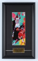 "LeRoy Neiman ""Michael Jordan"" 9.5x16.5 Custom Framed Print Display at PristineAuction.com"