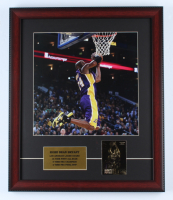 Kobe Bryant 16x19 Custom Framed Photo Display with 23kt Fleer Gold Card at PristineAuction.com