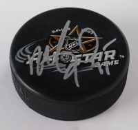 Roberto Luongo Signed 2007 All-Star Game Logo Hockey Puck (JSA COA) at PristineAuction.com