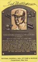 Ted Williams Signed Hall of Fame Plaque Postcard (JSA ALOA) at PristineAuction.com