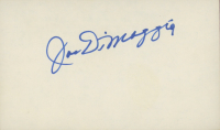 Joe DiMaggio Signed 3x5 Index Card (JSA ALOA) at PristineAuction.com