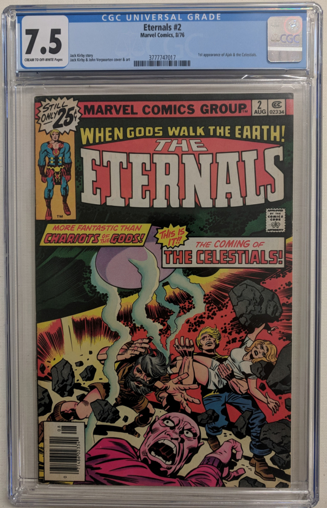 """1976 """"The Eternals"""" Issue #2 Marvel Comic Book (CGC 7.5) at PristineAuction.com"""
