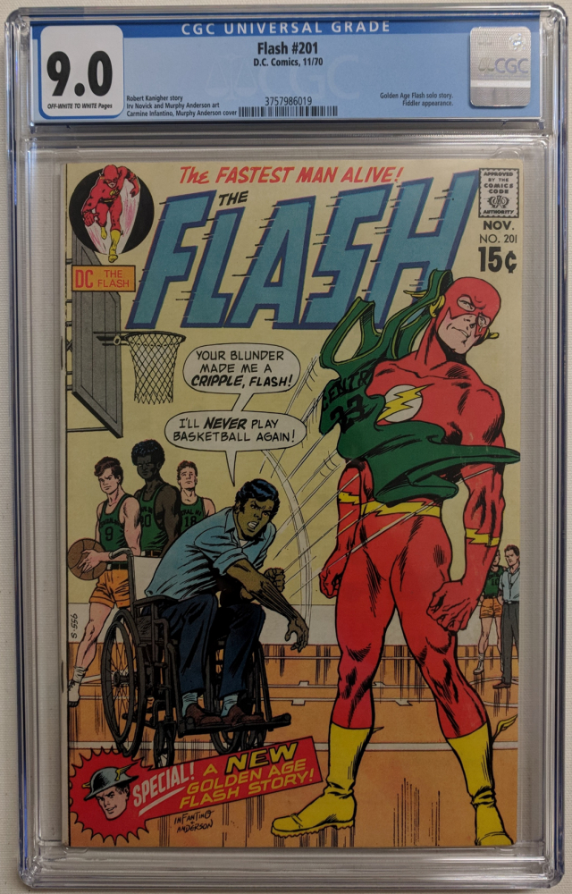 """1970 """"The Flash"""" Issue #201 DC Comic Book (CGC 9.0) at PristineAuction.com"""