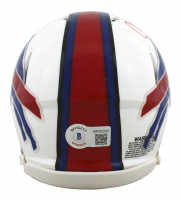 Cole Beasley Signed Bills Speed Mini Helmet (Beckett Hologram) at PristineAuction.com