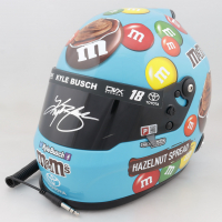Kyle Busch Signed NASCAR M&M's Hazelnut Spread Full-Size Helmet (PA COA) at PristineAuction.com