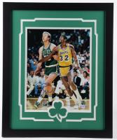 Larry Bird Signed Celtics 18x22 Custom Framed Photo Display (PSA COA & Bird Hologram) at PristineAuction.com