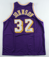 Magic Johnson Signed Jersey (PSA COA) at PristineAuction.com