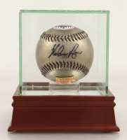 Nolan Ryan Signed Mets Logo Baseball With Display Case (PSA Hologram) at PristineAuction.com