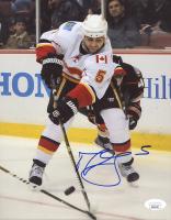 Mark Giordano Signed Flames 8x10 Photo (JSA COA) at PristineAuction.com