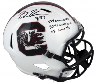Bryan Edwards Signed South Carolina Gamecocks Full-Size Speed Helmet With (3) Career Stat Inscriptions (Beckett Hologram) at PristineAuction.com