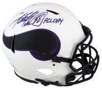 """Adrian Peterson Signed Vikings Authentic On-Field Full-Size Lunar Eclipse Alternate Speed Helmet Inscribed """"All Day"""" (Beckett COA) at PristineAuction.com"""