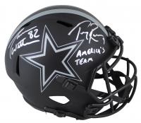 "Jason Witten & Tony Romo Signed Cowboys Full-Size Eclipse Alternate Speed Helmet Inscribed ""America's Team"" (Beckett COA & Witten Hologram) at PristineAuction.com"