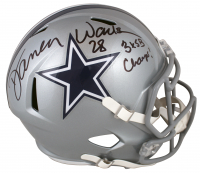 "Darren Woodson Signed Cowboys Full-Size Speed Helmet Inscribed ""3x SB Champ"" (Beckett Hologram) at PristineAuction.com"